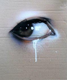 the spray painted eye
