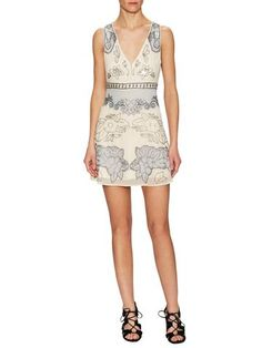 platinum-finds ~ Products ~ Free People Last Flowers Embellished Mini Dress 10 Ice Combo ~ Shopify