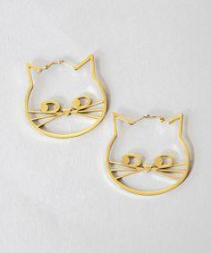 Lazy Oaf | Kitty Hoop Earrings