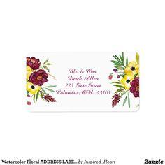 Watercolor Floral ADDRESS LABELS
