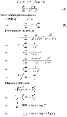 RBSE Solutions for Class 12 Maths Chapter 12 Differential Equation Ex Class 12 Maths, 12th Maths, Algebra Equations, Algebra 2, Math Formula Chart, Trigonometry Worksheets, Math Charts, Maths Solutions, Physics And Mathematics