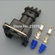 100Kit universal 2 Way 2 PIN 3.5MM MAP Car Fuel Injector Socket Plug DURITE MULTIPLE CONNECTORS JUNIOR POWER TIMER JPT CONNECTOR