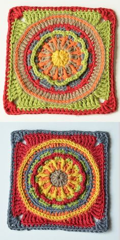 Circles of the Sun Mystery CAL 2015 - overlay crochet - Block 1 #free crochet pattern by LillaBjornCrochet