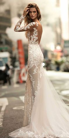 Vestido de noiva 2017 New Design Mermaid Wedding Dresses With Illusion Long Sleeves Fit Flare Applique Lace Bridal Gowns Sexy Backless Wedding Dress Low Back, Fit And Flare Wedding Dress, Sexy Wedding Dresses, Wedding Dress Sleeves, Long Sleeve Wedding, Bridal Dresses, Wedding Gowns, 2017 Wedding, 2017 Bridal