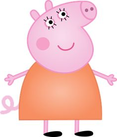 Clipart de Peppa Pig y su Familia.