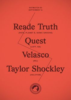 RA Tickets: Reade Truth, Quest, Velasco, Taylor Shockley, New York
