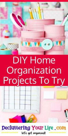 DIY Home Organization Projects To Try Nook And Cranny, Home Organization Hacks, Pinterest Diy, Getting Organized, Declutter, Deco, Projects To Try, Creative, Room