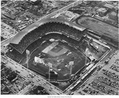 "Municipal Stadium, Kansas City  - ""Opening Day, K.C. Athletics vs Detroit...Attendance 32,834.""  - From the Kansas City Public Library digital archives"