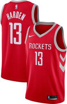 a96c51d4326a Nike Men s Houston Rockets James Harden  13 Red Dri-FIT Swingman Jersey