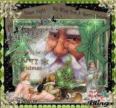 Vintage Christmas Scene