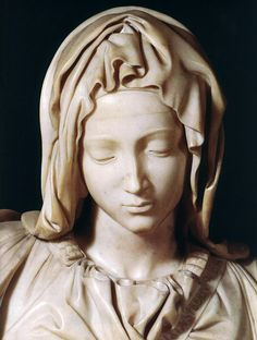 Pieta (detail) 1 by Michelangelo Buonarroti, 1499 I think this is one of the most beautiful sculptures in the world.