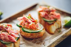 Try this quick high protein, delicious and healthful snack! Spread a toast round with a little cream cheese, top with slice of cucumber and flaked wild Alaskan smoked salmon. Easy peasy.