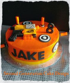 Second Generation Cake Design ~ Nerf Gun Birthday Cake