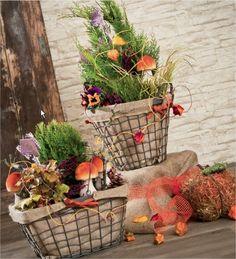 Mariage automne decoration table pomme mais inspiration Composition florale exterieur hiver