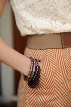 I want this skirt. Oh! And the shirt. Might as well add the belt and bangles, too.