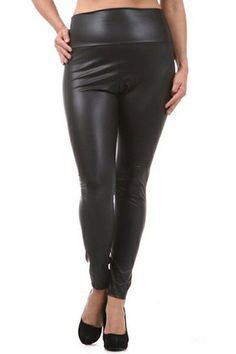 f10bab5408a Plus Size Black Leggings – LaV s Boutique High Waisted Leather Leggings