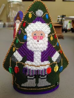 All these wonderful Petei Santas were stitched by the SWANs. Most were stitched using guides from The French Knot in Fort Worth, Texas. Merry Christmas!