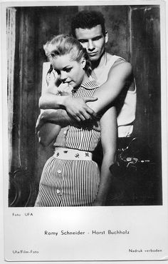 Romy en Horst...j.t.c. Romy Schneider, Le Talent, French Actress, James Dean, Beautiful Couple, Sissi, Actresses, Faces, Posters