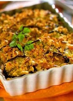Low FODMAP Recipe and Gluten Free Recipe - Eggplant gratin with tomato sauce and salad http://www.ibssano.com/low_fodmap_recipe_eggplant_gratin.html