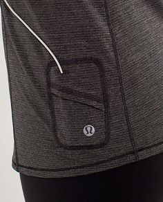Lululemon running shirt with pocket for ipod...yes this will encourage my new habit