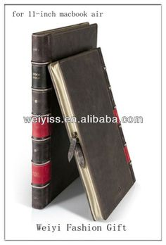 """Vintage Bible Book Style Leather Case for 11"""" MacBook Air"""