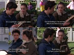 Jess and Rory! Gilmore Girls - book tease