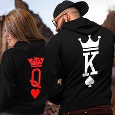 aa76d10c5b3 King   Queen   Princess   Prince Sweatshirt Black Lover Hooded Couple Hoodie  New