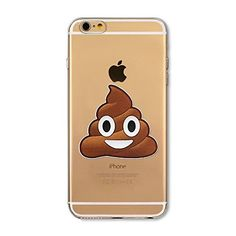 iPhone 6S Case, ThePhoneCaseCo® Clear Premium iPhone 6 Case TPU (4.7 Inch) [Scratch Resistant) Cover Cases Apple iPhone 6 6S Poop Emoji #funny #fashion #gaggift #giftidea #poop #poopemoji #tshirt #tshirts