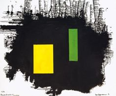 To J.F.K. - A Thousand Roots Did Die With Thee - Hans Hofmann 1963