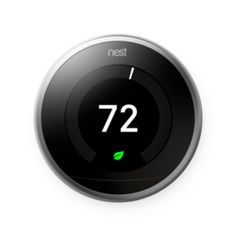 The Nest Learning Thermostat programs itself. It helps save energy. You can control it from anywhere with the Nest app. And with a Nest Temperature Sensor, you can get the right temperature, right where you want it. Nest Thermostat, Home Gadgets, Heat Pump, Heating And Cooling, Energy Efficiency, Smart Home, Save Energy, Custom Homes, Saving Money