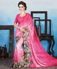 Pink Color Georgette Casual Wear Sarees : Manvika Collection  YF-41118