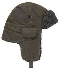 273b600f171 Barbour olive green hunter hat with fleece lining. Smyths Country Sports. Trapper  Hats