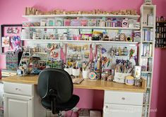 Thoughts of a Cardmaking Scrapbooker!: Tour of my (Almost Clean) Craft Room!