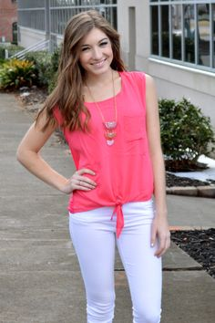 Allie Tank (Pink) – Girly Girl Boutique