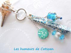 """Bijoux de sac /porte clés """"Aux Mille Etoiles"""" : Porte clés par les-humeurs-de-catsoan"""