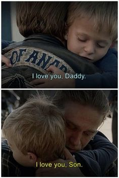 """I love you, Daddy"" Jax & Abel. SOA. SOAFX. Sons of Anarchy. SONShine."