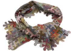 Sophie Digard jigsaw scarf - close-up