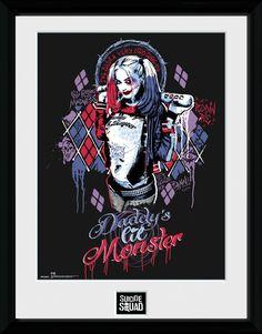 Suicide Squad Poster im Rahmen Harley Quinn Monster 45 x 34 cm
