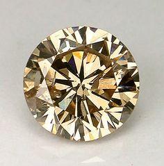 Medium Chocolate Brown Round Brilliant Cut Diamond by SilverFound, $95.00