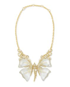 #AlexisBittar #Crystal #MotherofPearl & #Lucite #Butterfly #Necklace - was $595 now $553