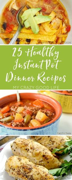 Eating healthy doesn't have to be time consuming or tasteless. Use these delicious Healthy Instant Pot recipes to save time and calories! I need an instant pot! Instant Pot Dinner Recipes, Healthy Dinner Recipes, Healthy Meals, Healthy Food, Lunch Recipes, Easy Meals, Appetizer Recipes, Breakfast Recipes, Healthy Instapot Recipes