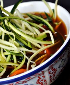 Bowl of Cleansing Ramen Soup (Gluten Free)