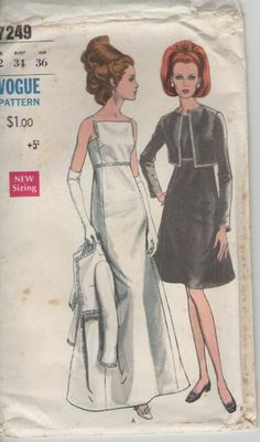1960s Vogue Sewing Pattern for Womens Evening by jennylouvintage, $25.00
