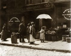 By Jacob Riis. 1890. Little Italy in New York.