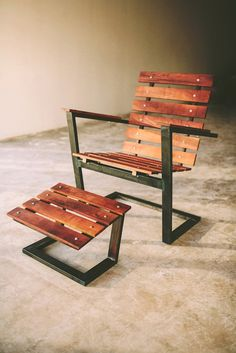 East Polk Lounger handcrafted rustic modern by petrifieddesign - FeedPuzzle - Cool Welding Project Ideas for Home