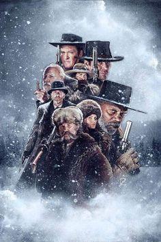 The Hateful Eight Best Movie Posters, Cinema Posters, Movie Poster Art, Great Films, Good Movies, Django Desencadenado, Westerns, Quentin Tarantino Films, Fantasy Anime