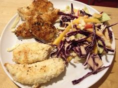 day 12, coconut chicken and mango slaw