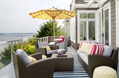Outdoor space with @leeindustries upholstery!