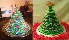 DIY Jello Shot Christmas Tree #food #recipe #Christmas