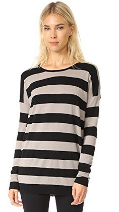 "Product review for Vince Women's Wide Stripe L/s Top.  Luxe cashmere-wool blend pullover knit with wide stripes.   	 		 			 				 					Famous Words of Inspiration...""The great thing about democracy is that it gives every voter a chance to do something stupid.""					 				 				 					Art Spander 						— Click here for more from Art..."